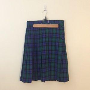 Vintage gianni sport plaid button up skirt